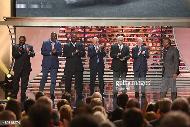 The 2015 Pro Football Hall of Fame class is inducted at the 2015 NFL Honors at Phoenix Convention Center on January 31 2015 in Phoenix Arizona