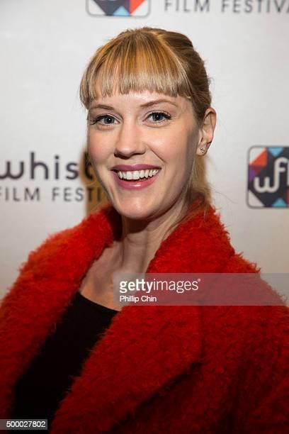 The 2015 Whistler Film Festival Rising Star Lauren Lee Smith attends the 2015 Annual Whistler Flim Festival Red Carpet at Millenium Place in Whistler...