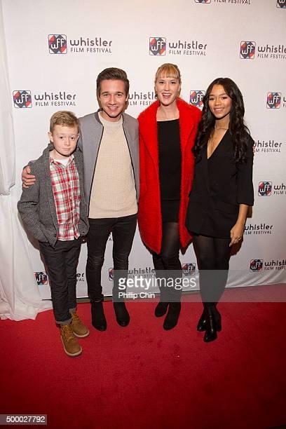 The 2015 Whistler Film Festival Rising Stars Jakob Davies Rustin Gresiuk Lauren Lee Smith and Taylor Russell attend the 2015 Whistler Flim Festival...