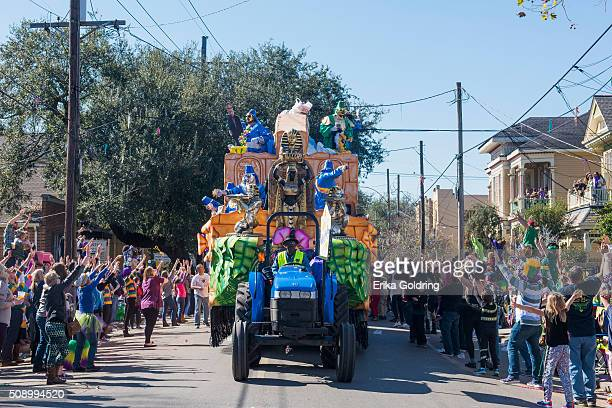 The 2016 Krewe Of Thoth parade takes place on February 7 2016 in New Orleans Louisiana