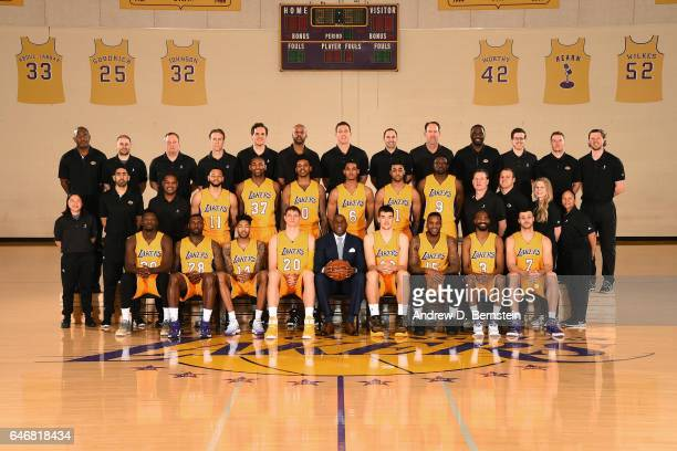 The 20162017 Los Angeles Lakers team poses for a team photo on February 27 2017 at the The Toyota Sports Center in El Segundo California NOTE TO USER...