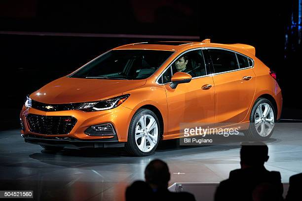 DETROIT MI The 2017 Chevy Cruze Hatchback is revealed to the news media at the 2016 North American International Auto Show January 11th 2016 in...