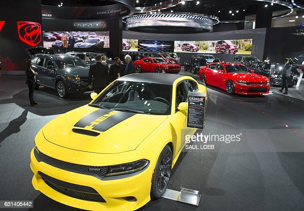 The 2017 Dodge Charger sedan is seen on display during the 2017 North American International Auto Show in Detroit Michigan January 10 2017 / AFP /...