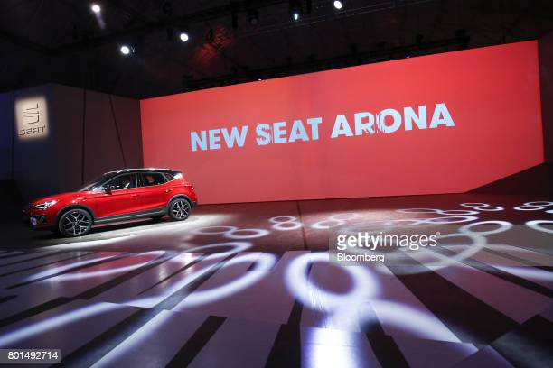 The 2017 Espanola de Automovil Turismo Arona compact sports utility vehicle is unveiled during a launch event in Barcelona Spain on Monday June 26...