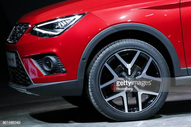 The 2017 Espanola de Automovil Turismo Arona FR compact sports utility vehicle is unveiled during a launch event in Barcelona Spain on Monday June 26...