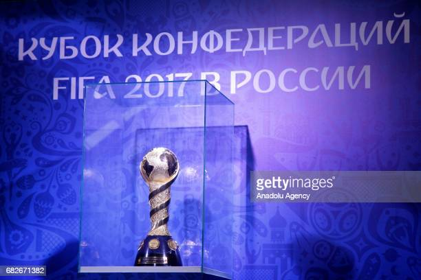 The 2017 FIFA Confederations Cup is seen at the opening of the 2017 FIFA Confederations Cup Park on a square outside Central Stadium in Kazan Russia...