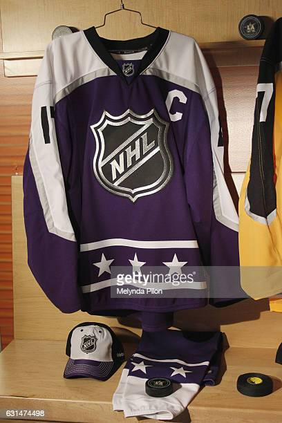 The 2017 NHL AllStar Central Division Team Jersey is photographed at the NHL Headquarters on January 10 2017 in New York City