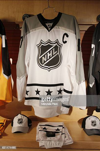 The 2017 NHL AllStar Metropolitan Division Team Jersey is photographed at the NHL Headquarters on January 10 2017 in New York City