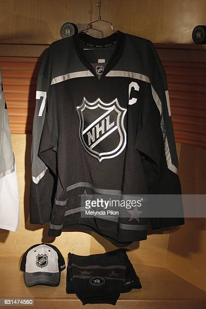 The 2017 NHL AllStar Pacific Division Team Jersey is photographed at the NHL Headquarters on January 10 2017 in New York City