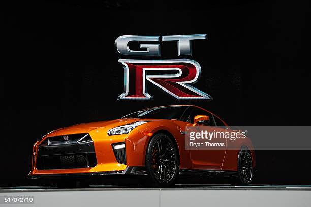 The 2017 Nissan GTR is introduced at the New York International Auto Show at the Javits Center on March 23 2016 in New York NY Nissan Motor Company's...