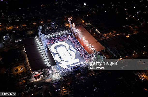 The 2017 Scotiabank NHL Centennial Classic game between the Toronto Maple Leafs and the Detroit Red Wings at Exhibition Stadium on January 1 2017 in...