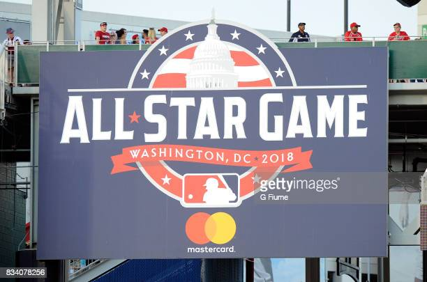 The 2018 All Star Game logo at Nationals Park on August 10 2017 in Washington DC