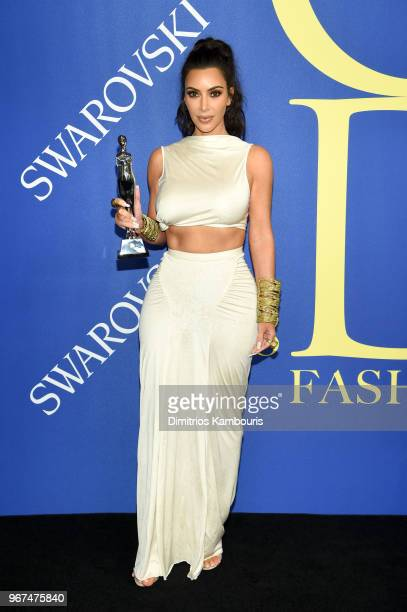 The 2018 CFDA Influencer Award winner Kim Kardashian West attends the 2018 CFDA Fashion Awards at Brooklyn Museum on June 4 2018 in New York City