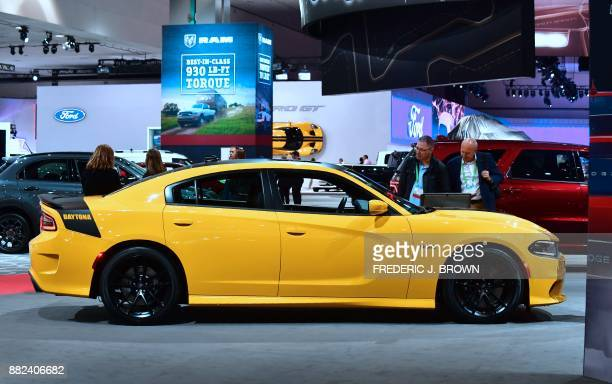 The 2018 Dodge Charger Daytona 392 on display at the 2017 LA Auto Show on November 29 2017 in Los Angeles California on the second of 3 press days...