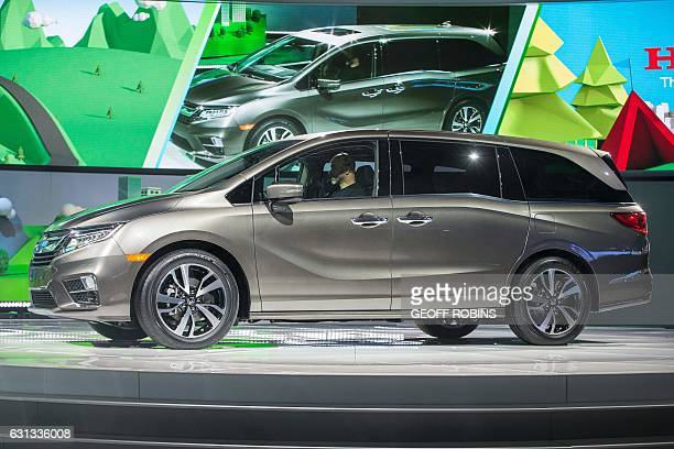 The 2018 Honda Odyssey is unveiled during a press conference at the 2017 North American International Auto Show in Detroit Michigan January 9 2017 /...