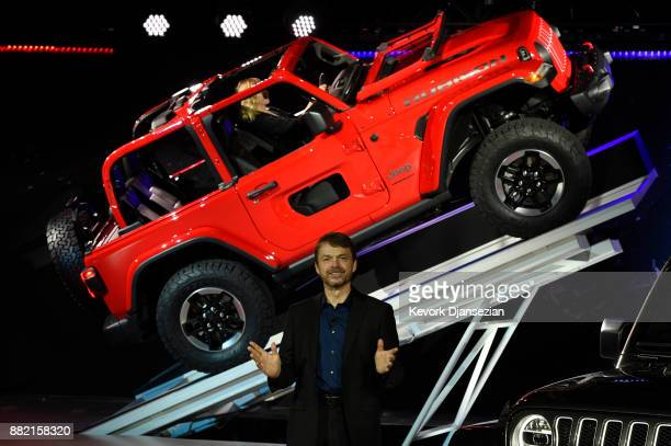 The 2018 Jeep Wrangler is introduced by Mike Manley president and CEO of Jeep during the auto trade show AutoMobility LA at the Los Angeles...