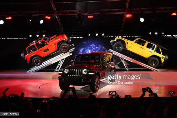 The 2018 Jeep Wrangler is introduced during the auto trade show AutoMobility LA at the Los Angeles Convention Center November 29 in Los Angeles...