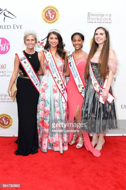 The 2018 Kentucky Derby Festival Princesses attend the Unbridled Eve Gala during the 144th Kentucky Derby at Galt House Hotel Suites on May 4 2018 in...