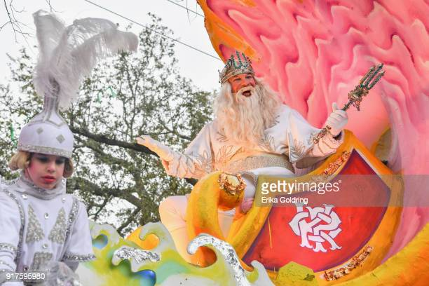 The 2018 King of Proteus leads the Mardi Gras 2018 parade on February 12 2018 in New Orleans Louisiana
