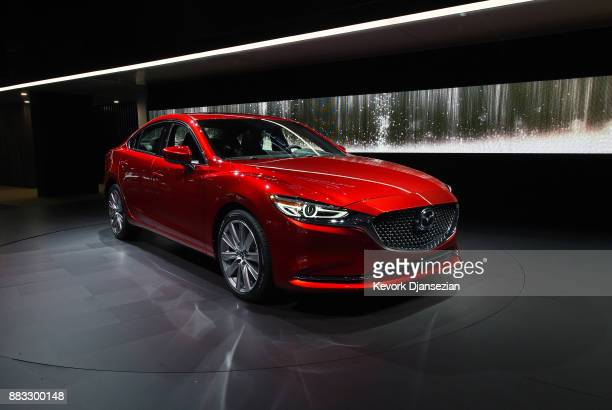 The 2018 Mazda 6 is introduced during the auto trade show AutoMobility LA at the Los Angeles Convention Center November 30 in Los Angeles California