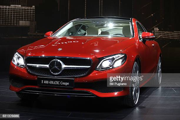 The 2018 MercedesBenz EClass Coupe is shown at its reveal at the 2017 North American International Auto Show on January 9 2017 in Detroit Michigan...