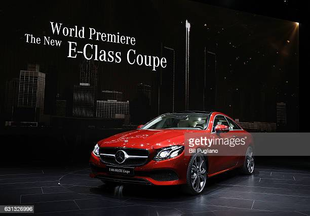 The 2018 MercedesBenz SClass Coupe Night Edition is shown at its reveal at the 2017 North American International Auto Show on January 9 2017 in...