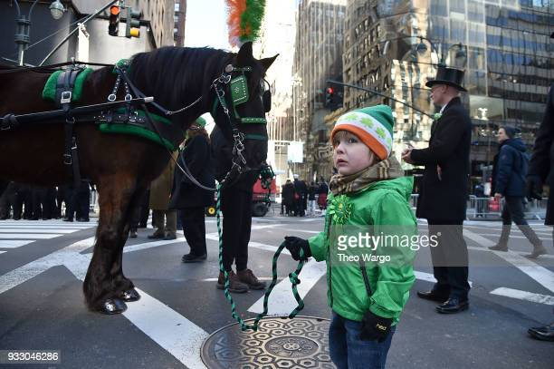 The 2018 New York City St Patrick's Day Parade on March 17 2018 in New York City