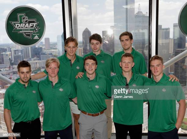 The 2018 NHL Draft top prospects Adam Boqvist of Sweden Evan Bouchard of Canada Noah Dobson of Canada Quintin Hughes Filip Zadina of Czech Republic...