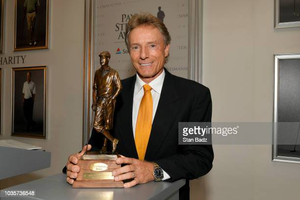 The 2018 Payne Stewart Award recipient Bernhard Langer speaks at the Payne Stewart Award ceremony at The RitzCarlton on September 18 in Atlanta...