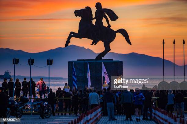 The 2018 Winter Olympics torch relay arrived in Thessaloniki Greece The flame was born in ancient Olympia will travel to North Korea in Pyongyang to...
