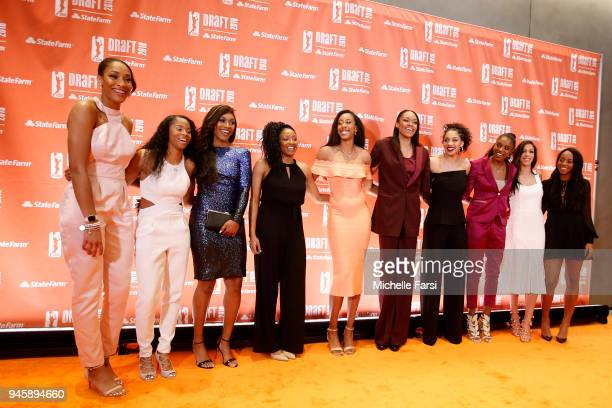 The 2018 WNBA Draftees arrive on April 12 2018 at Nike New York Headquarters in New York New York NOTE TO USER User expressly acknowledges and agrees...