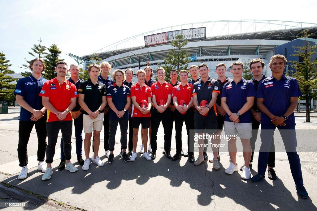 AFL Draft Media Opportunity : News Photo