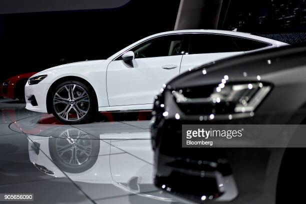 The 2019 Audi AG A7 Sportback vehicle is displayed during the 2018 North American International Auto Show in Detroit Michigan US on Tuesday Jan 16...