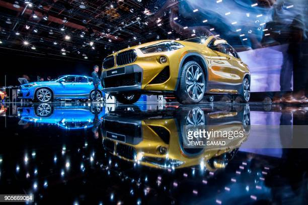 The 2019 BMW X2 is pictured during the press preview at the 2018 North American International Auto Show in Detroit Michigan on January 16 2018 Car...