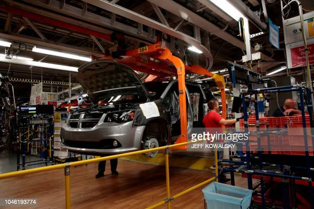 The 2019 Chrysler Pacifica being built at FCA Windsor Assembly on October 5 2018 in Windsor Ontario Canada