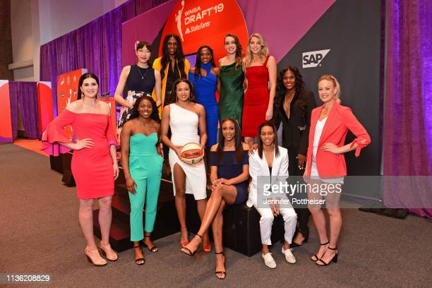 The 2019 draft class poses for a photo before the WNBA Draft on April 10 2019 in New York New York at the Nike New York Headquarters NOTE TO USER...