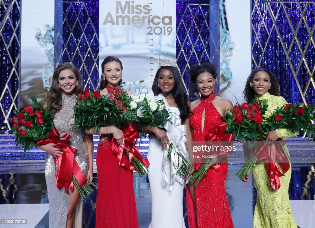 The '2019 Miss America Competition' broadcasts live from Atlantic City's Boardwalk Hall on Sunday, Sept. 9, 2018 (9-11pm, ET) on the ABC Television Network. MISS FLORIDA TAYLOR TYSON, MISS CONNECTICUT BRIDGET MARY OEI, MISS AMERICA 2019 NIA IMANI FRANKLIN, MISS LOUISIANA HOLLI' CONWAY, MISS