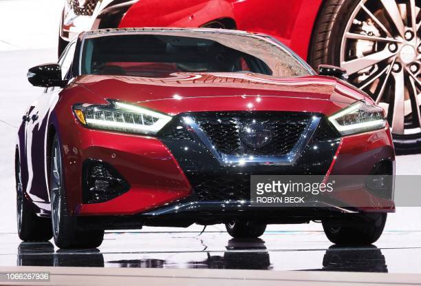 The 2019 Nissan Maxima is displayed at AutoMobility LA, the trade show ahead of the LA Auto Show, November 28 at the Los Angeles Convention Center. -...