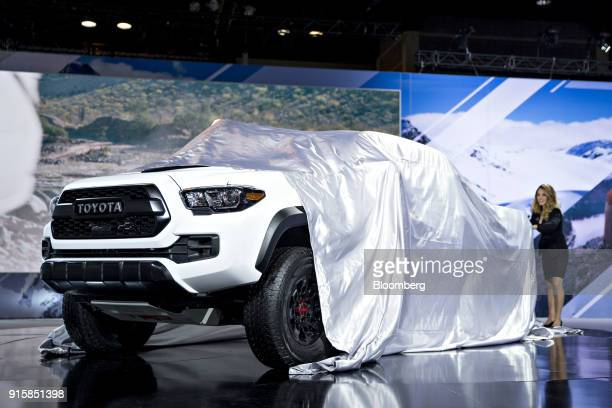 The 2019 Toyota Motor Corp Tacoma TRD Pro pickup truck is unveiled during the Chicago Auto Show in Chicago Illinois US on Thursday Feb 8 2018 First...