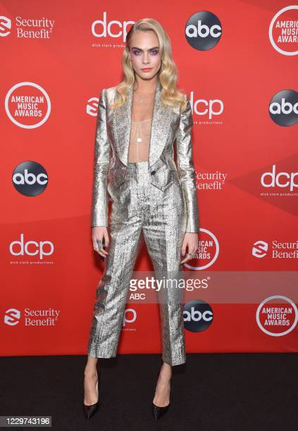 "The 2020 American Music Awards"", hosted by Taraji P. Henson aired from the Microsoft Theater in Los Angeles, SUNDAY, NOV. 22 , on ABC. CARA DELEVINGNE"