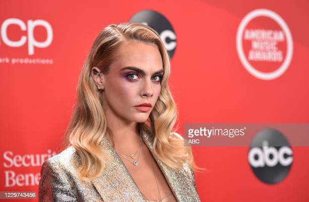 """The 2020 American Music Awards"""", hosted by Taraji P. Henson aired from the Microsoft Theater in Los Angeles, SUNDAY, NOV. 22 , on ABC. CARA DELEVINGNE"""