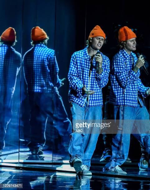 """The 2020 American Music Awards"""", hosted by Taraji P. Henson aired from the Microsoft Theater in Los Angeles, SUNDAY, NOV. 22 , on ABC. JUSTIN BIEBER"""