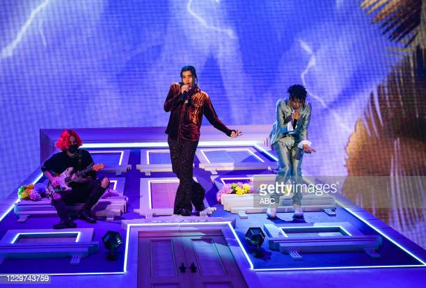 """The 2020 American Music Awards"""", hosted by Taraji P. Henson aired from the Microsoft Theater in Los Angeles, SUNDAY, NOV. 22 , on ABC. 24KGOLDN, IANN..."""