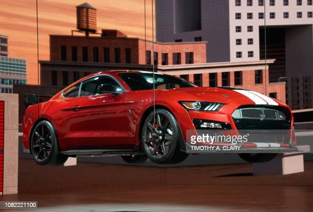 The 2020 Ford Mustang Shelby GT500 is unveiled during day one of the 2019 The North American International Auto Show January 14 2019 at the Cobo...