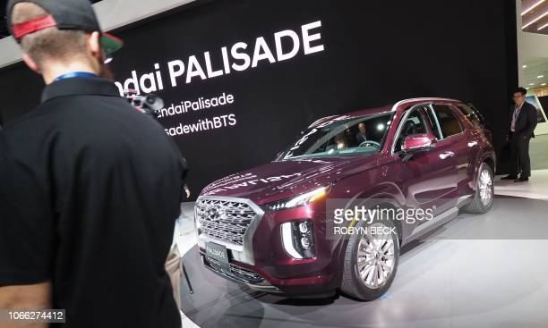 The 2020 Hyundai Palisade SUV after it was unveiled at AutoMobility LA, the trade show ahead of the LA Auto Show, November 28 at the Los Angeles...