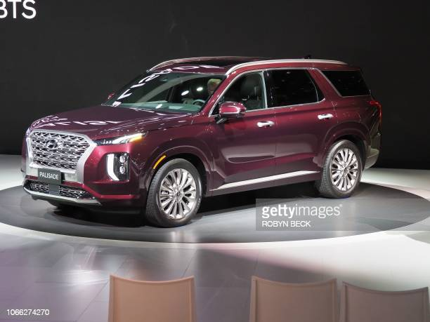 The 2020 Hyundai Palisade SUV is unveiled at AutoMobility LA, the trade show ahead of the LA Auto Show, on November 28 at the Los Angeles Convention...