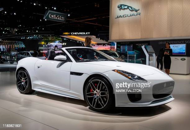 The 2020 Jaguar F-Type convertible on display during the AutoMobility LA event, at the 2019 Los Angeles Auto Show in Los Angeles, California on...
