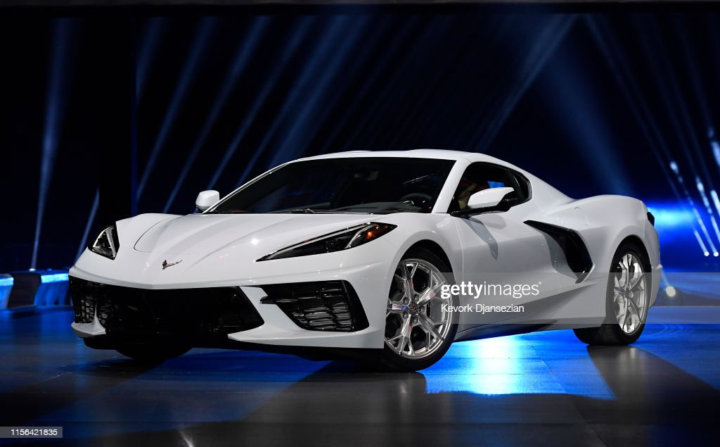 General Motors Unveils Its New Corvette In California : News Photo