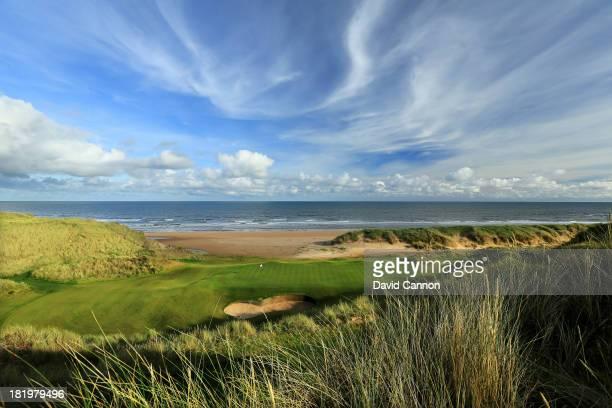 The 205 yards par 3 3rd hole at Trump International Golf Links on September 26 2013 in Balmedie Scotland