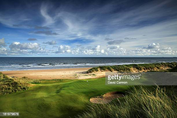 The 205 yards par 3 3rd hole at Trump International Golf Links on September 26 2013 in Balmedie Scotland